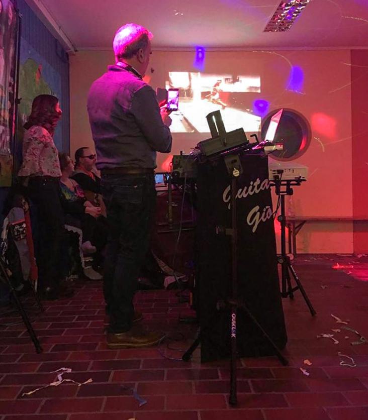 Musicisti alla festa di carnevale