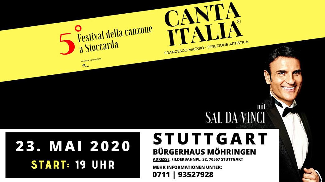 Locandina evento Canta Italia 2020 Stoccarda