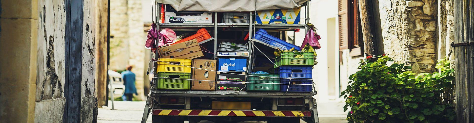 Camioncino distribuzione prodotti