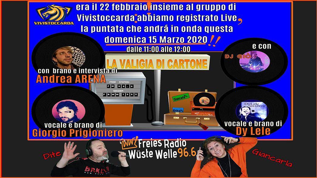 Trasmissione puntata Radio La Valigia di Cartone