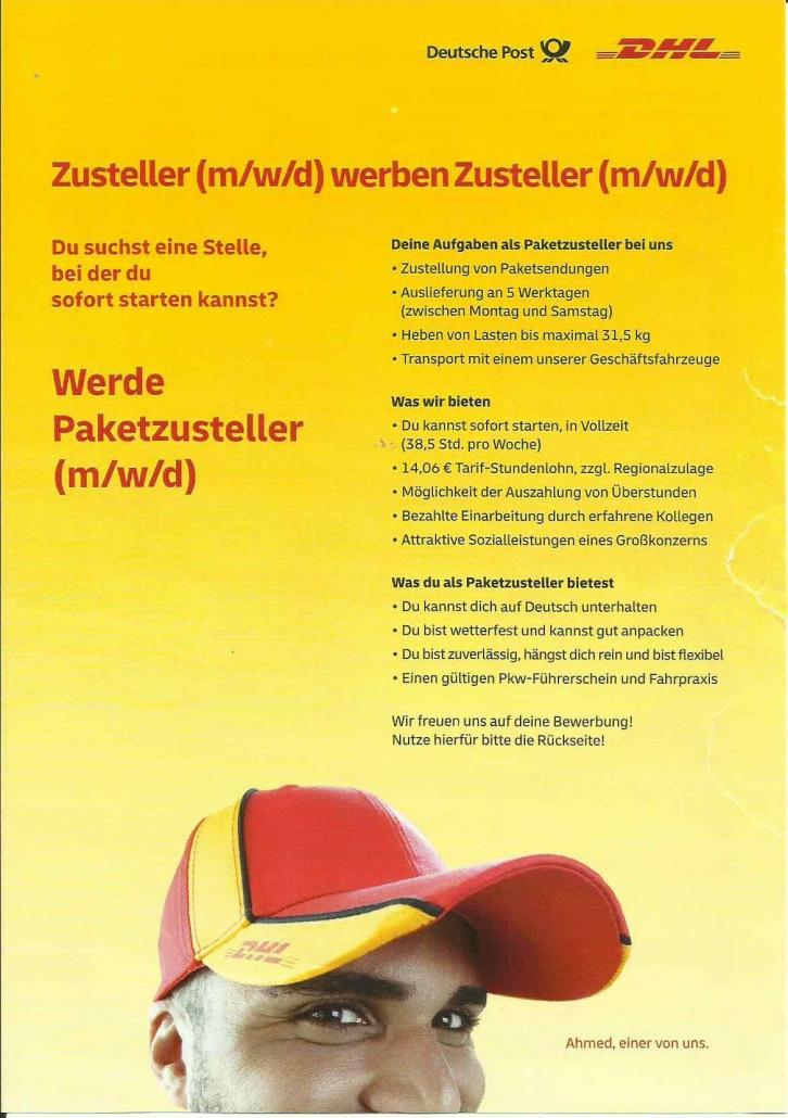 Lavora in DHL Deutsche Post